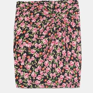 Zara rose printed mini skirt